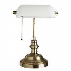 Интерьерная настольная лампа Banker A2493LT-1AB