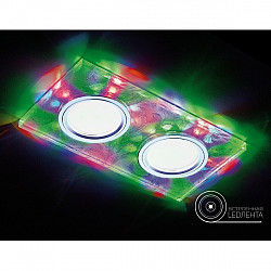 Точечный светильник Декоративные Led+mr16 S234/2 W/CH/M