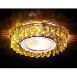 Точечный светильник Декоративные Кристалл Led+mr16 S255 CH/YL