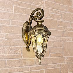 Draco D черное золото уличный настенный светильник Draco D капучино