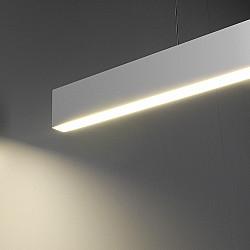Линейный светодиодный подвесной односторонний светильник 128см 25Вт 3000К матовое серебро LSG-01-1-8*128-3000-MS