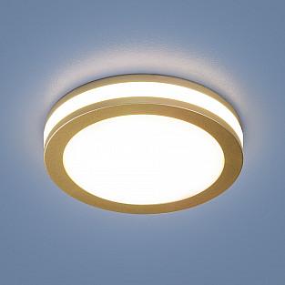 Светильник встраиваемый 5W 4200K SGD золото матовый DSKR80 5W 4200K