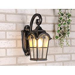 Mira D черное золото уличный настенный светильник Mira D черное золото