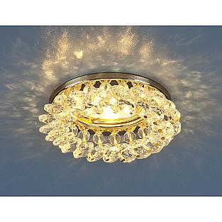 Светильник точечный с хрусталем 206 MR16 GD/CL золото/прозрачный