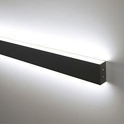 Линейный светодиодный накладной двусторонний светильник 53см 20Вт 4200К черная шагрень LSG-02-2-8*53-4200-MSh