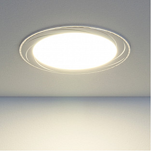Встраиваемый потолочный светодиодный светильник DLR004 12W 4200K WH белый