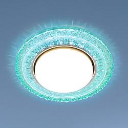Встраиваемый точечный светильник с LED подсветкой 3028 GX53 TF тиффани