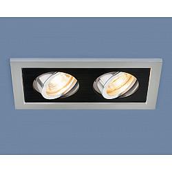 Точечный светильник с поворотным механизмом 1031/2 MR16 SL/BK серебро/черный