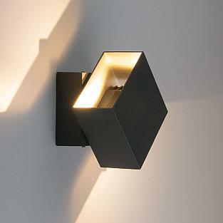 FOBOS графит уличный светодиодный светильник с поворотным механизмом 1607 TECHNO LED