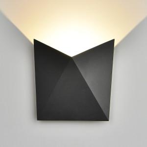 BATTERFLY черный уличный настенный светодиодный светильник 1517 TECHNO