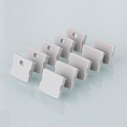 Комплект заглушек для накладного алюминиевого профиля для светодиодной ленты (10 пар) ZLL-2-ALP001-R