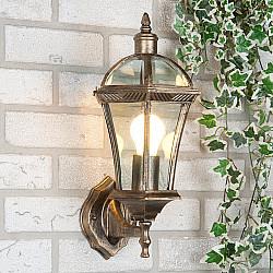 уличный настенный светильник Capella черное золото