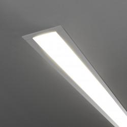Линейный светодиодный встраиваемый светильник 53см 10Вт 4200К матовое серебро LSG-03-5*53-4200-MS
