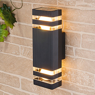 уличный настенный светильник 1449 TECHNO черный