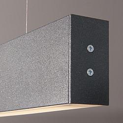 Линейный светодиодный подвесной двусторонний светильник 103см 40Вт 6500К черная шагрень LSG-01-2-8*103-6500-MSh