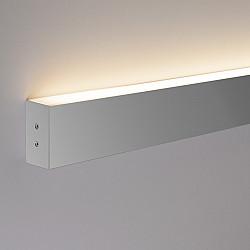 Линейный светодиодный накладной односторонний светильник 53см 10Вт 6500К матовое серебро LS-02-1-53-6500-MS