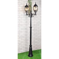 уличный двухрожковый светильник на столбе NLG99HL004 черный