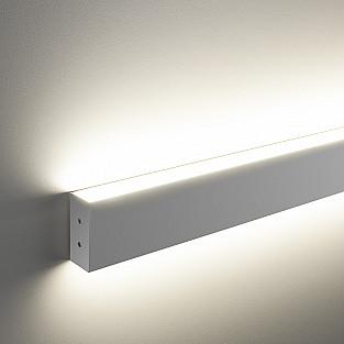 Линейный светодиодный накладной двусторонний светильник 128см 50Вт 4200К матовое серебро LSG-02-2-8*128-4200-MS