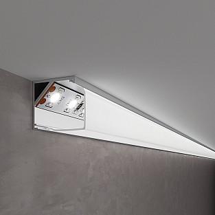 Квадратный угловой алюминиевый профиль для LED ленты LL-2-ALP009
