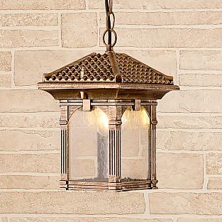 Уличный подвесной светильник Corvus H черное золото IP33 GL 1021H
