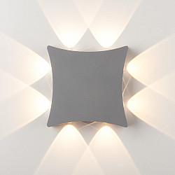 Уличный настенный светодиодный светильник Серый 1631 TECHNO LED