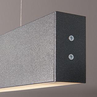 Линейный светодиодный подвесной односторонний светильник 128см 25Вт 4200К черная шагрень LSG-01-1-8*128-4200-MSh