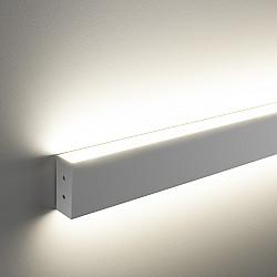 Линейный светодиодный накладной двусторонний светильник 128см 50Вт 3000К матовое серебро LSG-02-2-8*128-3000-MS