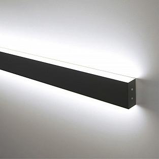 Линейный светодиодный накладной двусторонний светильник 128см 50Вт 4200К черная шагрень LSG-02-2-8*128-4200-MSh