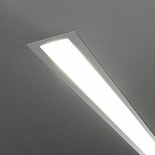 Линейный светодиодный встраиваемый светильник 128см 25Вт 6500К матовое серебро LSG-03-5*128-6500-MS