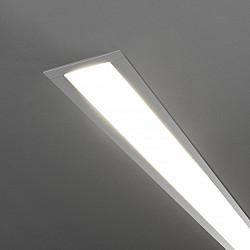 Линейный светодиодный встраиваемый светильник 128см 25Вт 4200К матовое серебро LSG-03-5*128-4200-MS