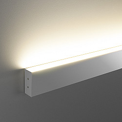 Линейный светодиодный накладной односторонний светильник 103см 20Вт 3000 матовое серебро LSG-02-1-8*103-3000-MS