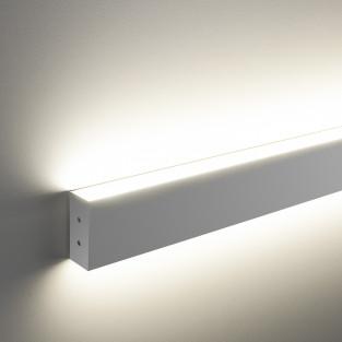 Линейный светодиодный накладной двусторонний светильник 103см 40Вт 6500 матовое серебро LSG-02-2-8*103-6500-MS