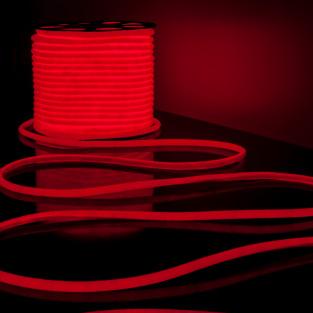 Светодиодный гибкий неон LS003 220V 9.6W 144Led 2835 IP67 круглый красный 6500К