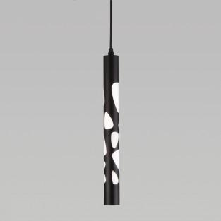 Подвесной светодиодный светильник DLR037 12W 4200K черный матовый
