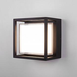 Уличный настенный светодиодный светильник Черный 1533 TECHNO LED