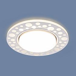 Встраиваемый точечный светильник с LED подсветкой 3032 GX53 WH белый