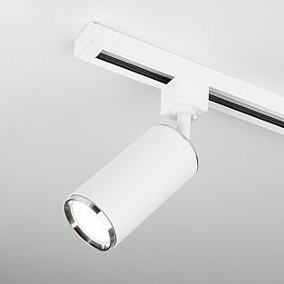 Трековый светильник для однофазного шинопровода Svit GU10 белый/хром MRL 1013
