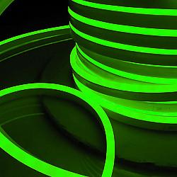 Светодиодный гибкий неон LS001 220V 9.6W 120Led 2835 IP67 односторонний зеленый