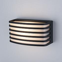 Черный уличный настенный светильник 1409 TECHNO