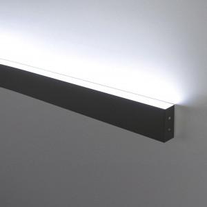 Линейный светодиодный накладной односторонний светильник 78см 15Вт 3000К черная шагрень LSG-02-1-8*78-3000-MSh