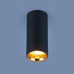 Накладной потолочный светодиодный светильник DLR030 12W 4200K черный матовый/золото