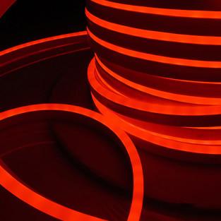 Светодиодный гибкий неон LS001 220V 9.6W 120Led 2835 IP67 односторонний красный