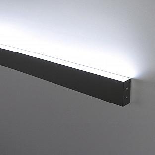 Линейный светодиодный накладной односторонний светильник 53см 10Вт 6500К черная шагрень LSG-02-1-8*53-6500-MSh