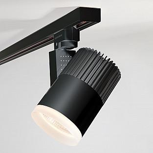 Трековый светодиодный светильник для однофазного шинопровода Accord черный 30W 4200K LTB37