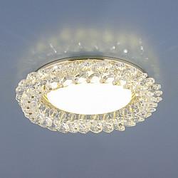 Точечный светильник с хрусталем 1063 GX53 GD / CL золото / прозрачный
