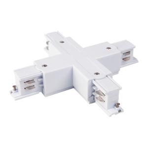 Коннектор X-образный для трехфазного шинопровода белый TRC-1-3-X-WH