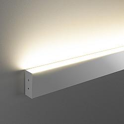 Линейный светодиодный накладной односторонний светильник 53см 10Вт 3000К матовое серебро LSG-02-1-8*53-3000-MS