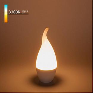 """Светодиодная лампа """"Свеча на ветру"""" CA37 8W 3300K E14 BLE1431"""