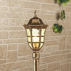 Уличный светильник на столбе Dorado F черное золото GL 1013F
