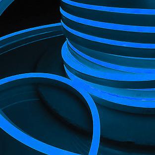 Светодиодный гибкий неон LS001 220V 9.6W 120Led 2835 IP67 односторонний синий